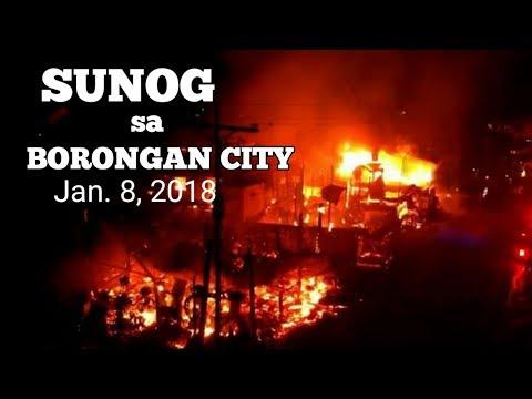 Sunog sa Brgy. Songco real st. BORONGAN CITY front of shell