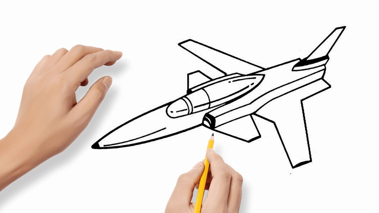 How To Draw A Jet Easy Step By Step - Fighter Jet Drawing