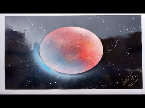 Super Blue Blood Moon – Spray paint Art by Aniket