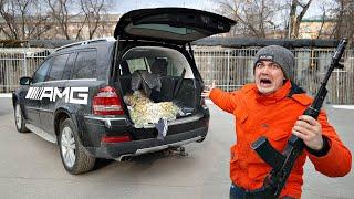 Мы вскрыли багажник бандитского мерседеса из гаража, который мы купили на аукционе!