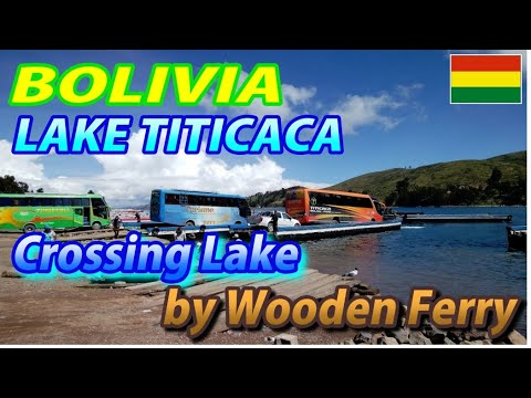 Crossing Lake TITICACA by Wooden Ferry @TIQUINA, BOLIVIA