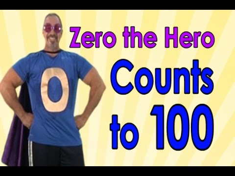 Zero The Hero  Count to 100  100 Days of School  Jack Hartmann