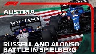 Alonso and Russell's Epic Duel | 2021 Austrian Grand Prix