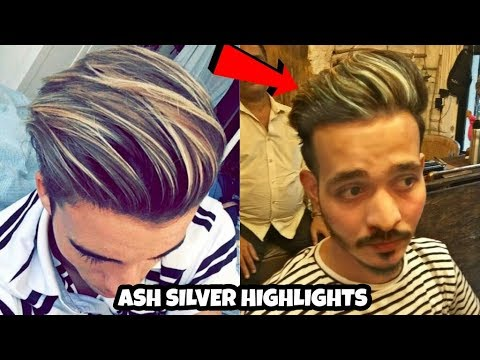 Silver Ash Platinum Blonde Highlights For Mens 2018 By Shaikhs