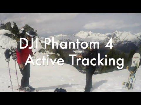 DJI Phantom 4 Active Tracking (Follow-me) While Skiing