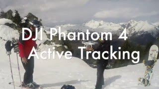 DJI Phantom 4 Active Tracking While Skiing
