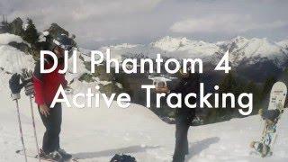 DJI Phantom 4 Active Tracking While Skiing
