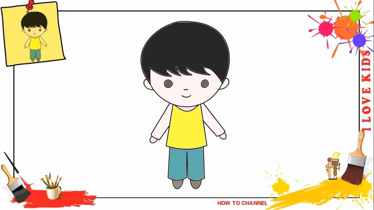 Uncategorized How Do You Draw A Boy how to draw a boy simple easy slowly step by for kids kids