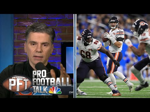 Mitchell Trubisky, Bears Top Lions To Keep Playoff Hopes Alive | Pro Football Talk | NBC Sports