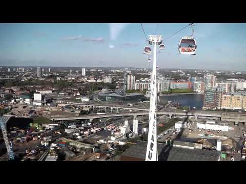 Emirates Air Line, London - Onboard N Greenwich to Royal Docks