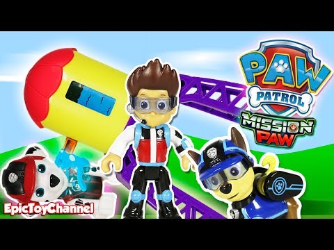 Thumbnail: Paw Patrol Nickelodeon MIssion Paw Rescue Marshall after Sweetie Broke Adventure Bay Tower Toy