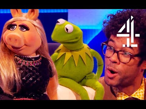 Richard Ayoade Is Very Invested In Kermit & Miss Piggy's Relationship  The Last Leg
