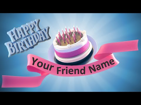 Create A Birthday Cake With Name Online And Send It To Your Friend