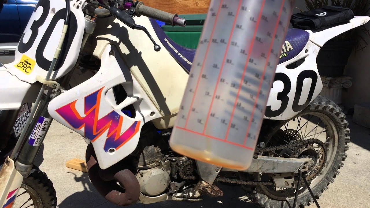 how to mix 2 stroke oil for a motorcycle - youtube