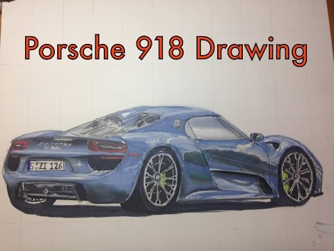 full download how to draw a porsche 918 spyder speed drawing. Black Bedroom Furniture Sets. Home Design Ideas