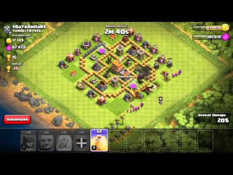 Clash of Clans - BEST ATTACK STRATEGY - Townhall Level 6 (CoC TH6 Attack Strategies)