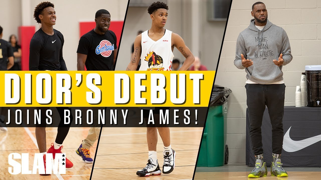 dfbbcebbc4d LeBron James watches Dior Johnson make DEBUT with Strive For Greatness! 🚀