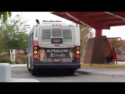 ABQ RIDE New Flyer DE40FR Bus 724 on Route 157 Montano At Northwest Transit center