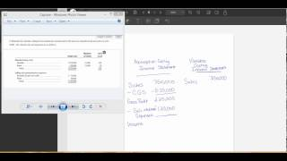 Example Problem- Absorption Costing and Variable Costing Income Statement