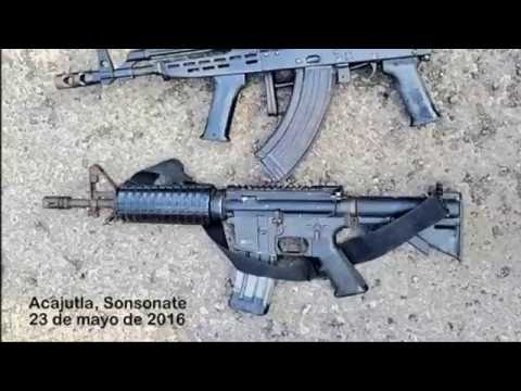 Fusiles incautados por la PNC a las maras de El Salvador