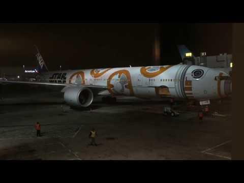 Los Angeles (LAX) to Haneda (HND) ANA Business Class Star Wars 777