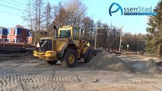 Aanleg bouwplaats nieuwe tunnel in Assen