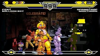 Five Nights at Freddy's Party 4v4 Patch MUGEN 1.0 Battle!!!