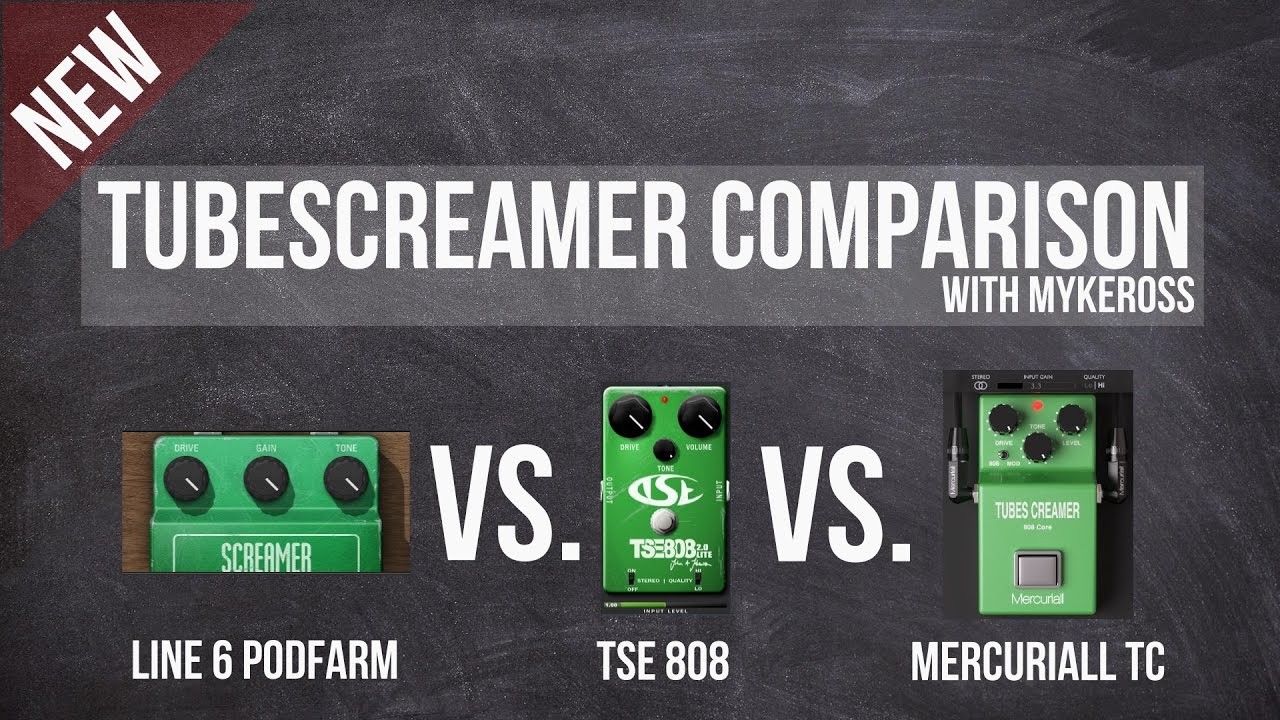 Tube screamer vst comparison (line6 podfarm vs. Tse 808 vs.