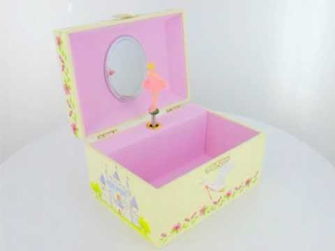 Wooden Musical Jewellery Box With Ballerina Design YouTube