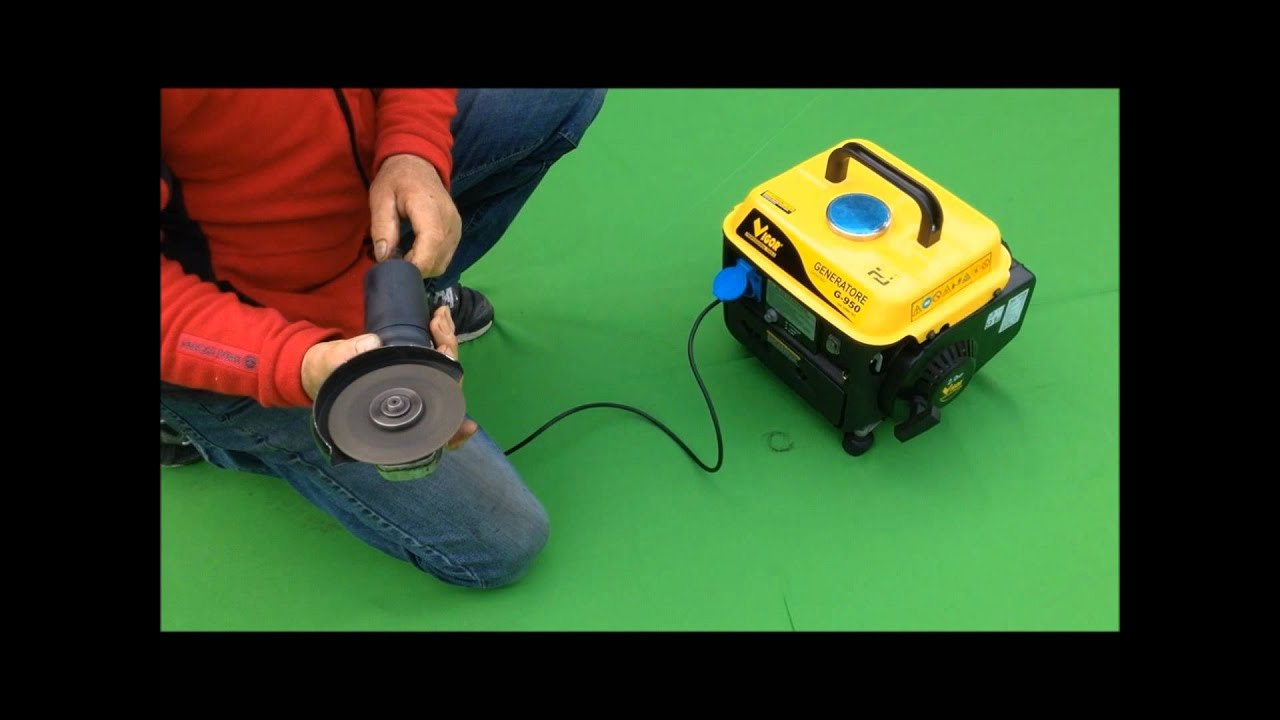 Generatore di corrente elettrica vigor g 950 youtube for Generatore di corrente bricoman