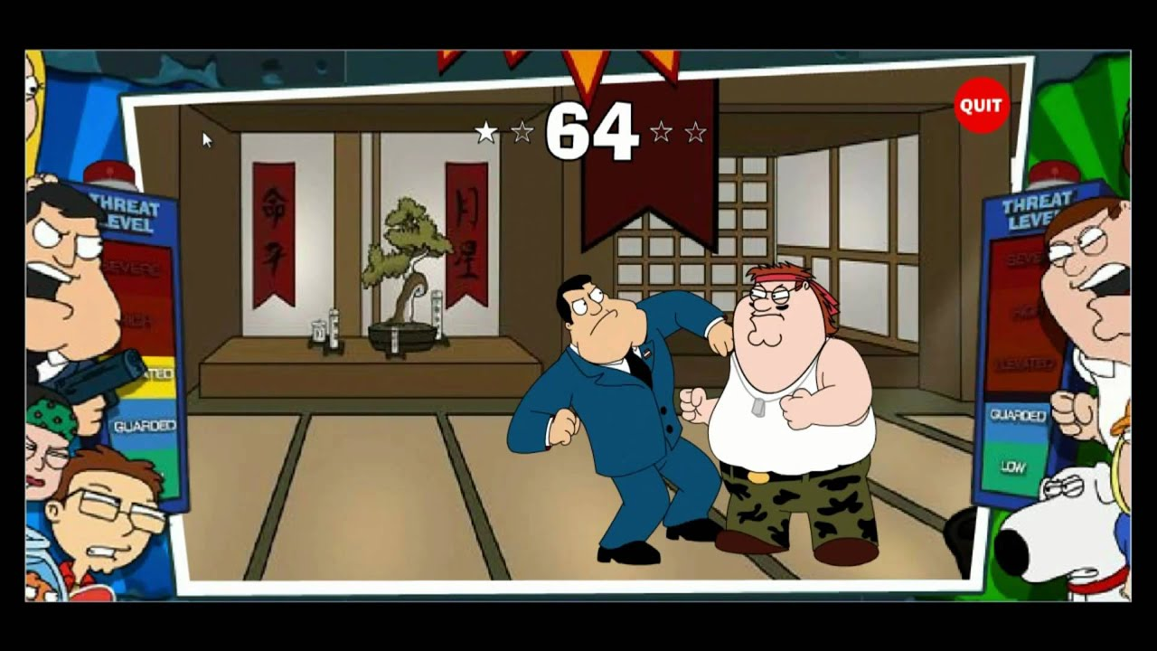 American Dad VS Family Guy - Kung Fu 2 - Flash game - YouTube