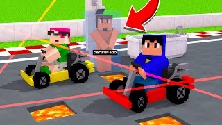 Minecraft: CORRIDA MALUCA! 🏁(Pac e Mike)