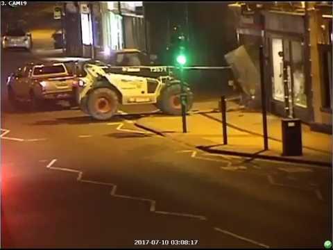 Criminals Steal ATM Using Forklift Truck as Battering Ram in Ashby, UK