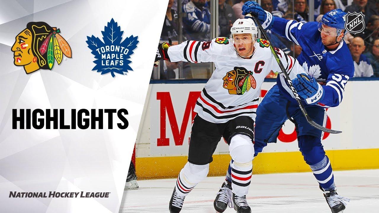 NHL Highlights | Blackhawks @ Maple Leafs 1/18/20