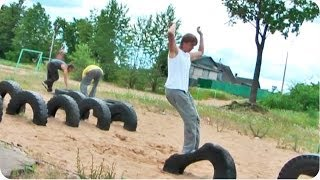 Tire Flip Bellyflop | #ThrowbackThursday