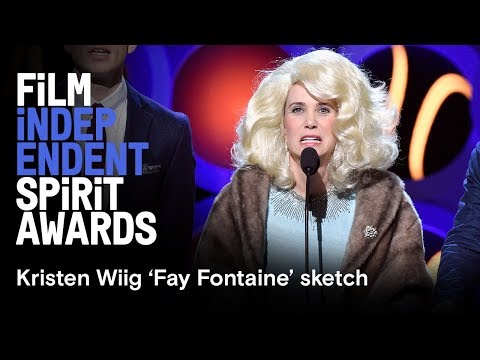 Kristen Wiig 'Fay Fontaine' sketch | 2018 Film Independent Film Festival