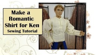 "Sew A Romantic ""romeo"" Shirt For Ken Dolls"