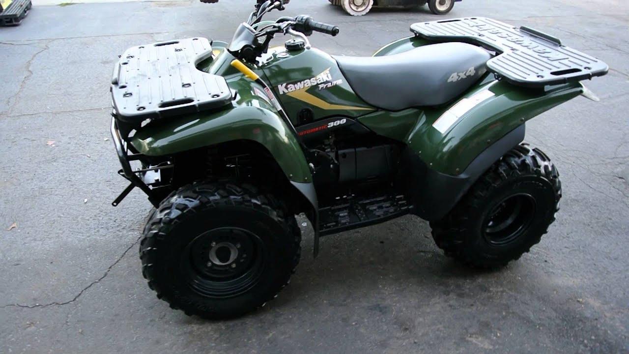 1999 Kawasaki Prarie 300 4x4 W   Plow