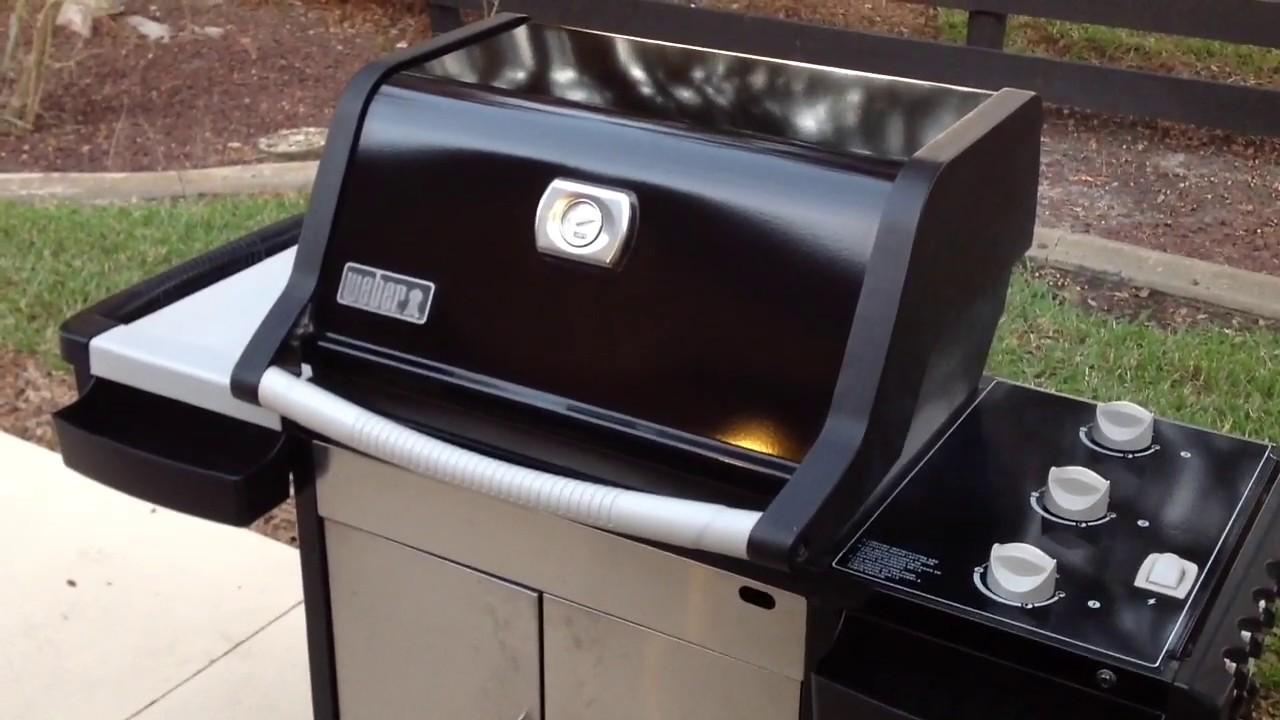 Gut bekannt Classic Weber Spirit 3 Burner Gas Grill/ Cube Steak Burgers - YouTube LH66