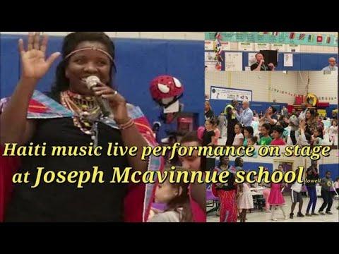 Music of Haiti live  stage  performance at Joseph Mcavinnue school Lowell