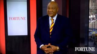 "George Foreman tells people ""Don't ever stop earning!"""