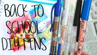 Back To School DIY: Pens dull to KAWAII! (+ Giveaway!)