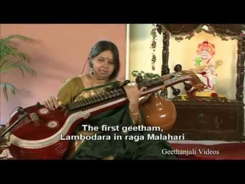 Learn to Play Veena - Geetham Lambodara