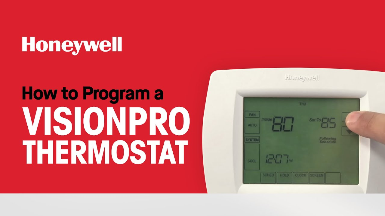 Honeywell Th8000 Thermostat Owner Manual Pro S User Guide Thermometer Instructions That Easy To How Program A Visionpro Youtube Rh Com Troubleshooting Digital