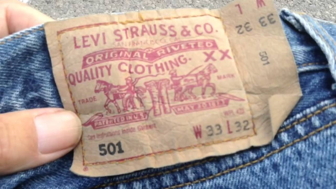 ca81a17b Levi's 501 - fake or real? - YouTube