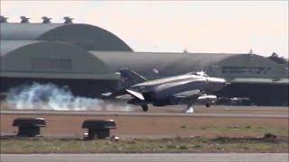 この轟音がたまらない❣ 各部隊ミッション終えショートブレイクで豪快タッチダウン・第301飛行隊・第501飛行隊・第302飛行隊・Rwy21L 百里基地 nrthhh thumbnail