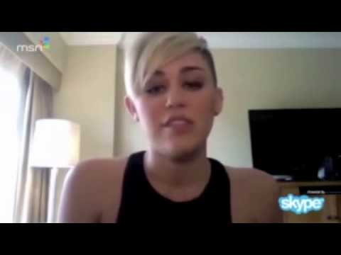 Miley Cyrus Answer A Fan's Questions On SKYP Live Chat