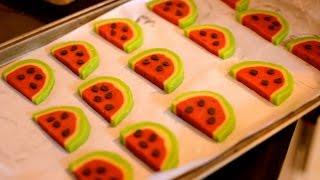 Watermelon Cookies Recipe| Easy Watermelon Cookies Recipe