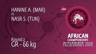 Round 2 GR - 66 kg: S. NASR (TUN) df. A. HANINE (MAR) by TF, 0-0