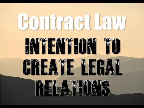 How Contract Law Works - Intention to Create Legal Relations